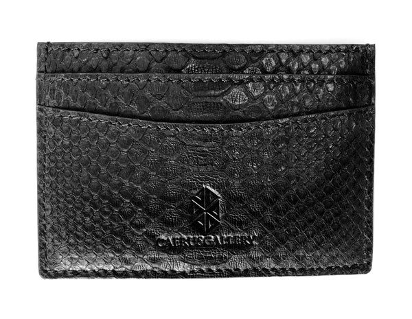 Black Python Card Holder