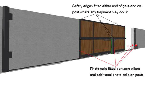 Sliding Gates safety edge set up