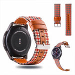 Leather Canvas Wristband Strap Replacement For IWatch