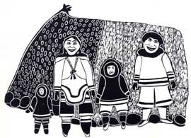 Family and Sealskin Tent