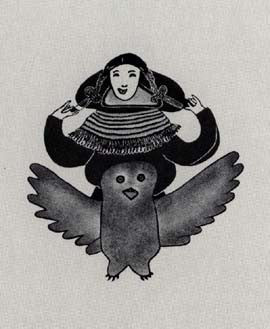 Young Woman and Owl