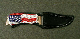 Navajo bead handle knife