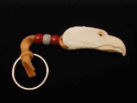 Eagle Carved Keychain