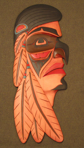 Hand-carved Chief Transforming into Hawk