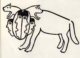 Two Headed Dog Chasing Qiviuq