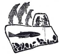 Inuit Fishing as Three Bears Approach