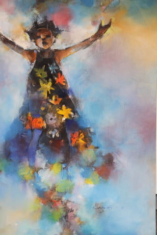 Shomari Paintings: Praise - A Painting of Uganda and The Race