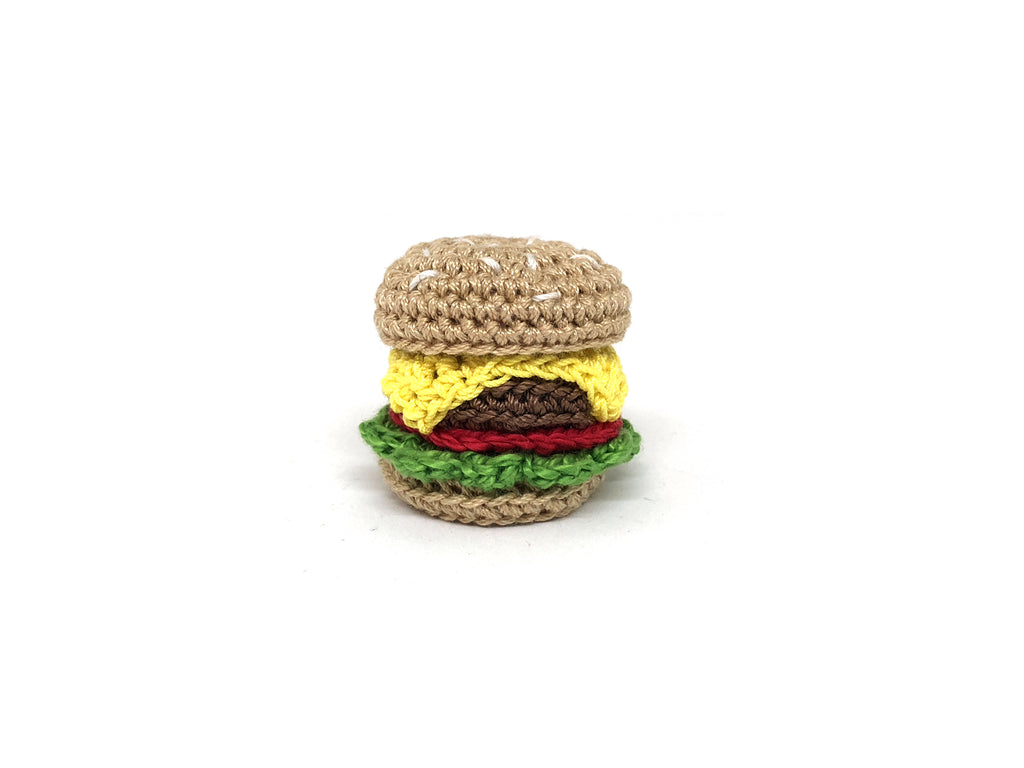 Crochet Burger Pin *Made upon order*