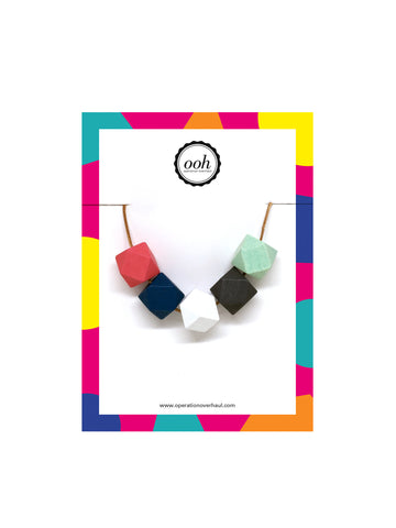Hexagon Bead Necklace in Emily