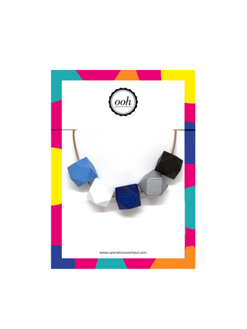 Hexagon Bead Necklace in Jessie