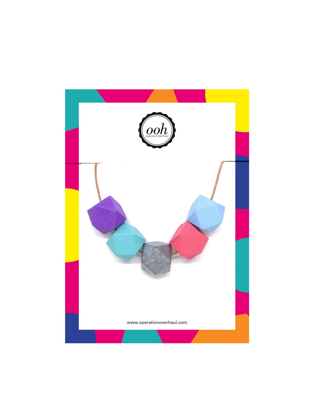 Hexagon Bead Necklace in Lara