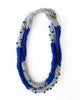 Loopy Necklace in Grey/Blue