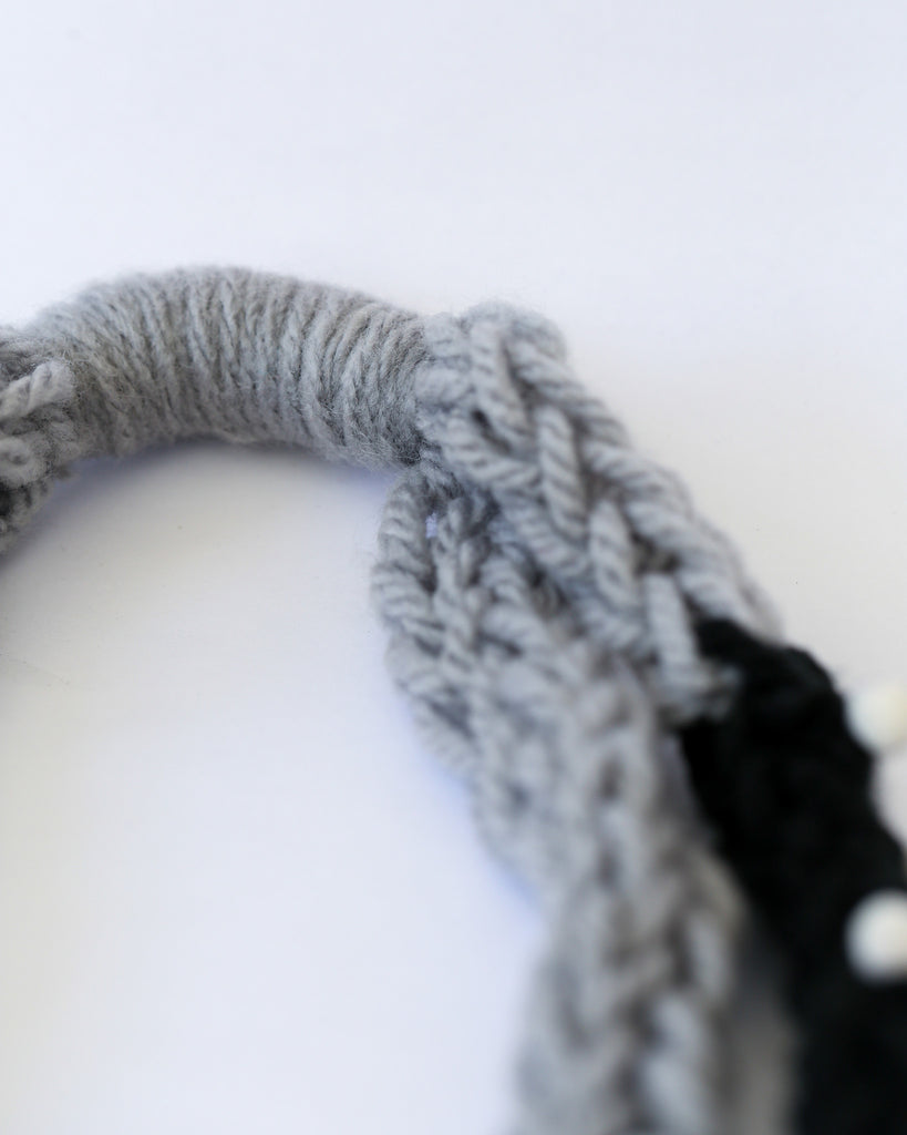 Loopy Necklace in Grey/Black *Made upon order*