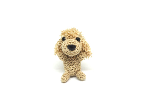 Crochet Poodle Keychain *made upon order*