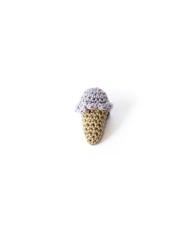 Single Scoop Ice Cream Pin in Lavender