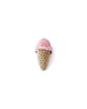 Single Scoop Ice Cream Pin in Pink