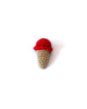 Single Scoop Ice Cream Pin in Red