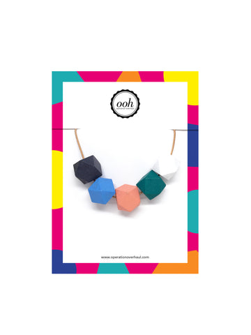 Hexagon Bead Necklace in Sophia