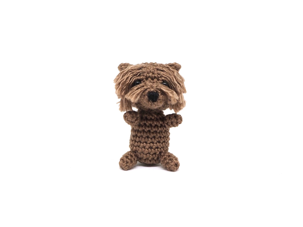 Crochet Terrier Keychain *made upon order*