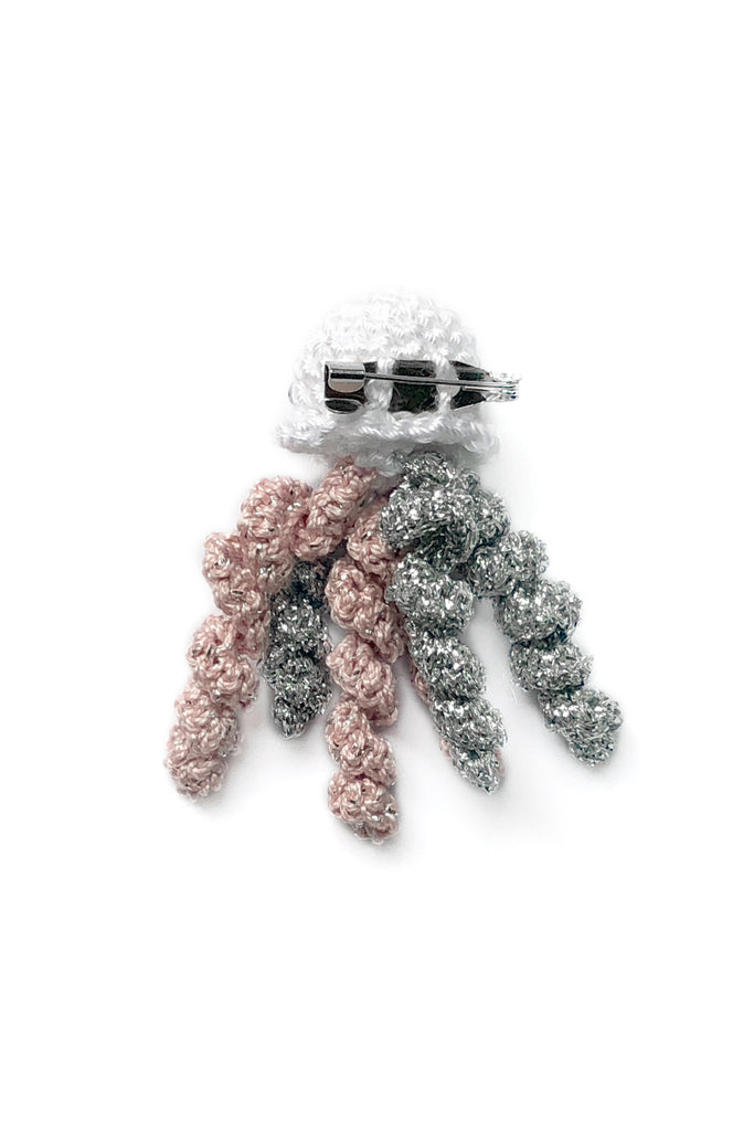 Crochet Jellyfish Pin in Twilight