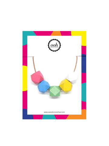 Hexagon Bead Necklace in Zoe