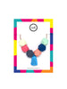 Hexagon Bead Necklace with Tassel in Keira