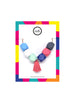 Hexagon Bead Necklace with Tassel in Ariel