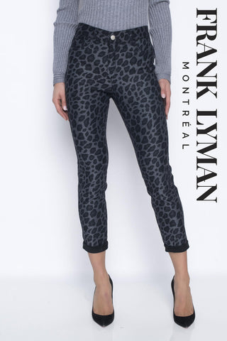 Frank Lyman Reversible Black/ animal Print Jeans