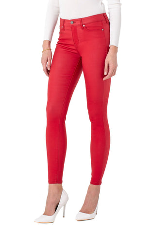 Liverpool Abby Skinny Coated Red Jeans