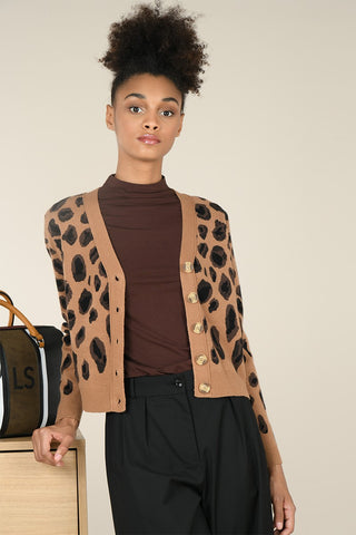 Lili Sidonio By Molly Bracken Animal Print Cardigan