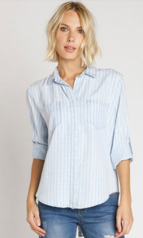 Velvet Heart Blue Stripe Riley Top