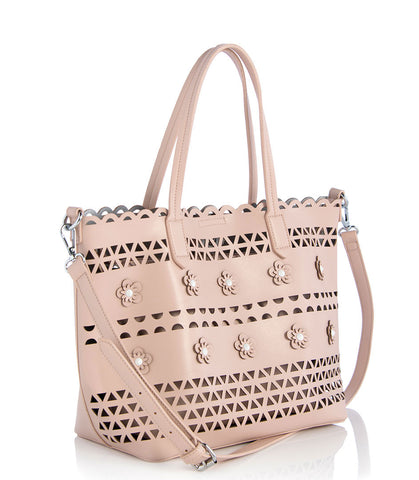Shiraleah Aida Tote in Blush and Black