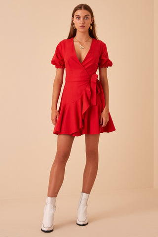 Finders Keepers Aranciata Wrap Dress