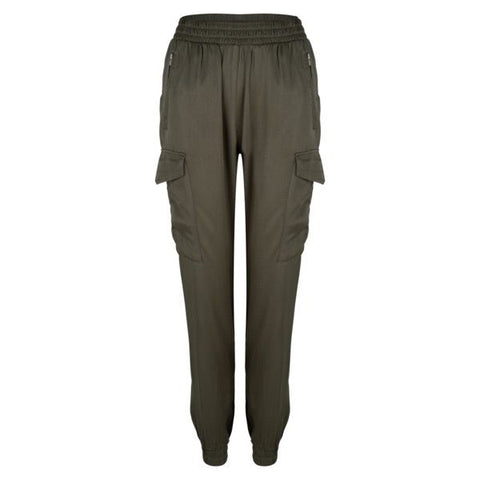 EsQualo Cargo Jogger Pants in Olive or Black