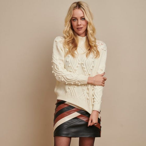 EsQualo Solid 3D Textured Patterned Sweater