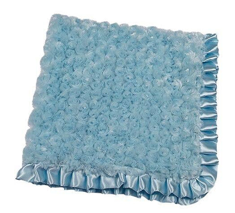 "Maison Chic 29"" Square Swirlz Fur Blanket in Ivory or Blue"