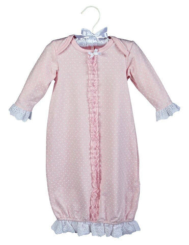 Maison Chic Pink Dot Sac Gown (0-3 Month)