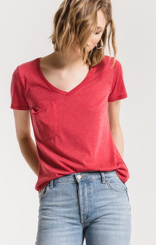 Z Supply The Pocket Tee in Jester Red
