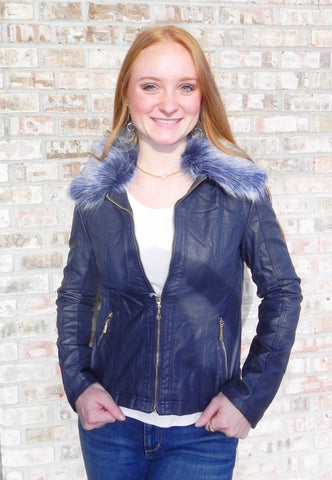 Suzy D Jacket with Removable Fur