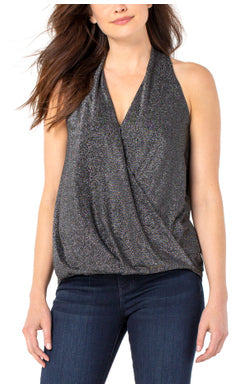 Liverpool Draped Crossover Front Sleeveless Top