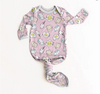 Little Sleepies Pink Breakfast Buddies Bamboo Infant Knotted Gown