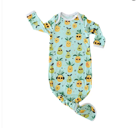 Little Sleepies Pineapples Bamboo Infant Knotted Gown