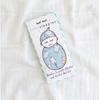 Little Sleepies Blue Breakfast Buddies Bamboo Swaddle & Knotted Hat Gift Set
