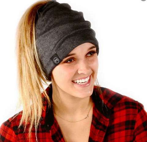 Pretty Simple Charcoal Peek-a-Boo Beanie