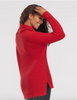 Tribal Long Sleeve Cowl Sweater in Red Haute