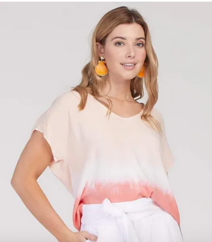 Tribal Drop Shoulder Ombre Top