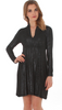 VFish Long Sleeve Sharon Dress in Sparkle Black