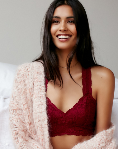 Free People Galloon Lace Racerback Bra