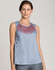 Nic+Zoe Spring Indigo Layer Top