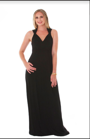 VFish Sharon Maxi in Solid Black